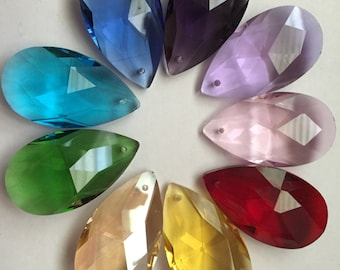 Stunning colors - 9 pieces- 38mm Crystal prisms