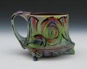 love mug with feet fancy mug loving pottery modern fun functional