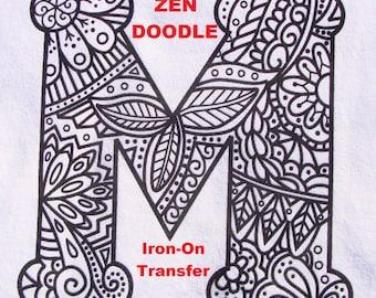 Zendoodle Using A Letter