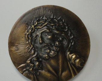 1976 Bergamot Brass Works, The Passion of Christ Belt Buckle.