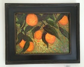 Framed Oil Painting Oranges // fruit // still life // ready to hang // 12x16