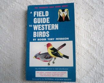 "Vintage Book Paperback Reference  ""Field Guide to Western Birds"" Peterson"