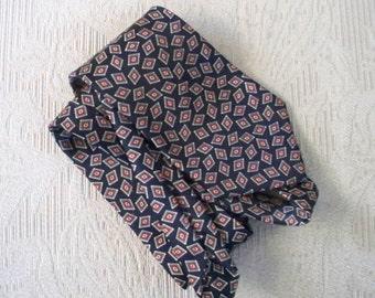 Vintage Accessory Necktie Mercedes Silk Handmade Necktie