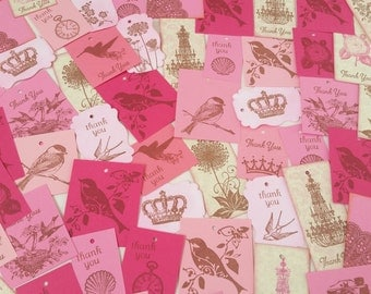 Collection of 115 Vintage Inspired Tags Great for Birthday Parties, Events, Weddings, Favors