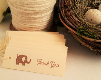 Baby Shower Elephant Tags Birthday Party Favors Set of 24