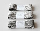 Marbled Silk Ribbon, 5 Suminagashi Pattern Variety