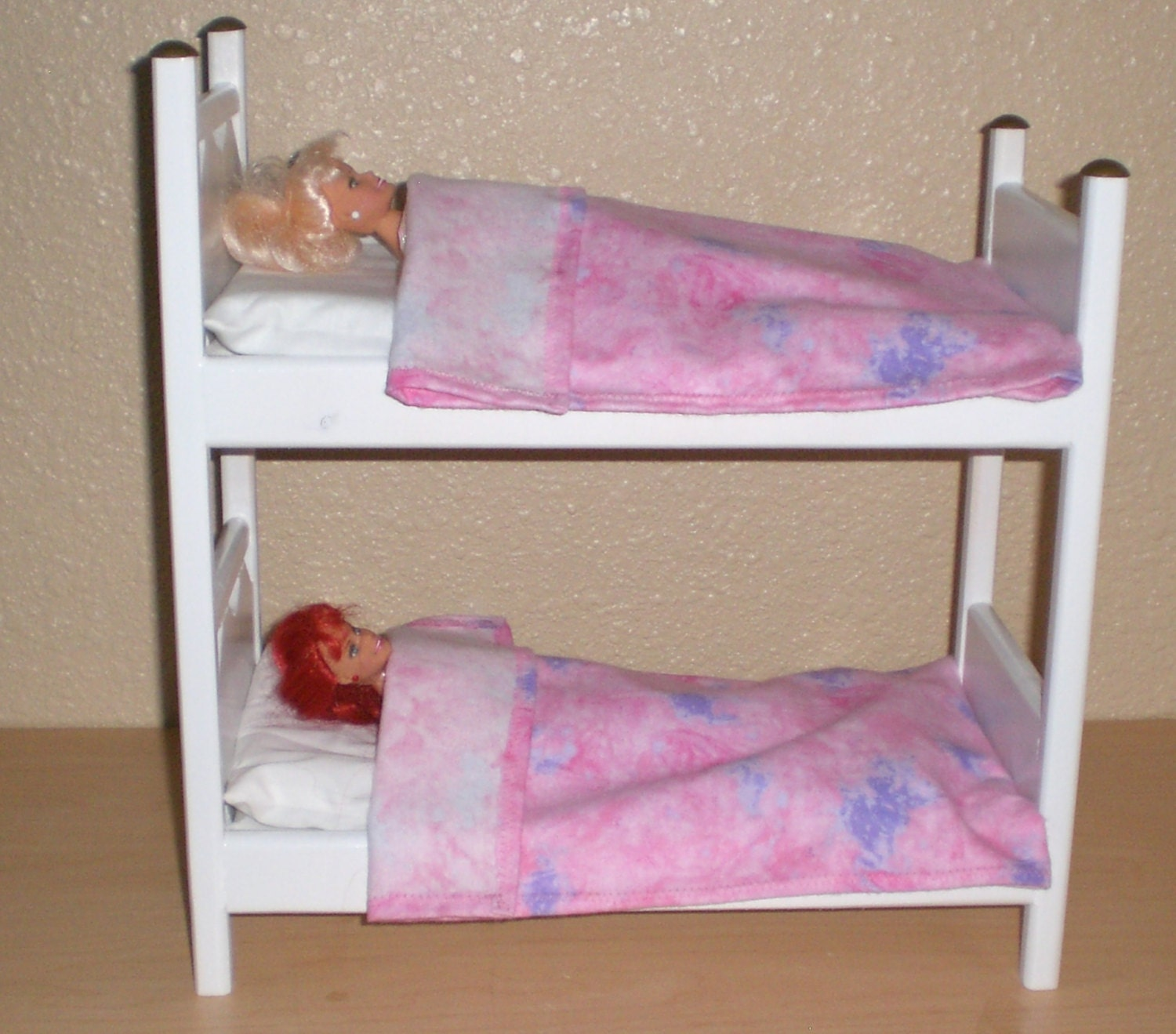 White Bunk Bed for Barbie size doll by Judy Illi Crafts