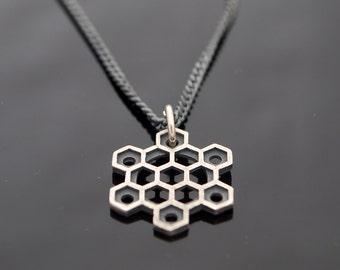 Hexagons Star-Metatron Cube pendant-Star of David-Sacred Geometry-Seed of Life-geometric necklace-Metatron pendant-Magen David-MJ