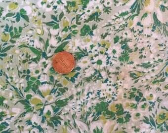 1 Yard Vintage Cotton Print - Greens