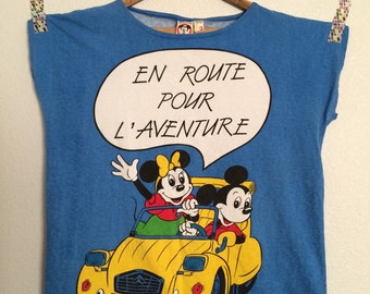 Vintage French Disney Americanwear Oversized Women's Tee