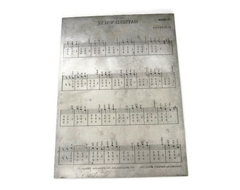Antique Metal Sheet Music Engraving Printing Plate, Hayseed Waltz