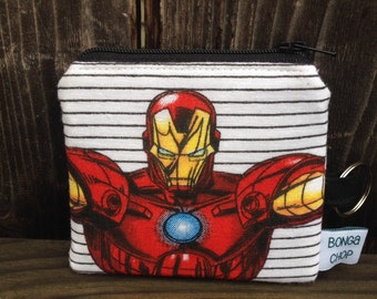 Marvel Ironman Mini Wallet with ID Holder Recycled