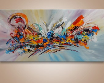 Abstract, Palette Knife Painting, Modern Painting, Art, LARGE Painting, Wall decor, Wall Art, Canvas Art, Abstract painting, Art by Catalin