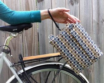 Bicycle Top Tube Wristlet - blues and browns