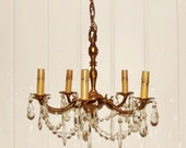 Vintage Petite Chandelier and Prisms