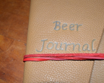 Handmade Leather Beer Journal FREE Personalization