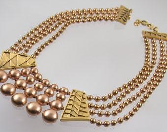 Vintage Monet Egyptian Collar Necklace