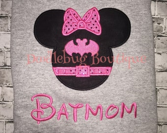 Batmom Minnie Mouse shirt