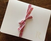 Monogram Stationery, Monogram Notecards, Blank cards, Stationery Set, Gift Set - Set of 20