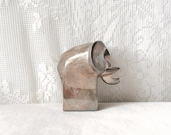 Vintage Dansk Silver Plated Animal Sculpture Paperweight Elephant