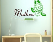Sea Turtle Custom Name Vinyl Wall Decal Sticker 51999
