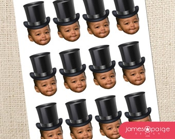 Magician Ringmaster Top Hat Photo Cupcake Toppers - Digital File