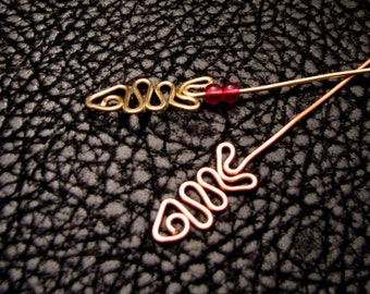 Fancy pins, fish, headpins, eye pins, jewelry finding, jewelry accessories, jewelry components, beading supplies,4pc