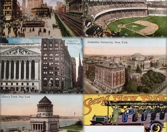 Seeing New York:  1915 Accordion Postcard Booklet