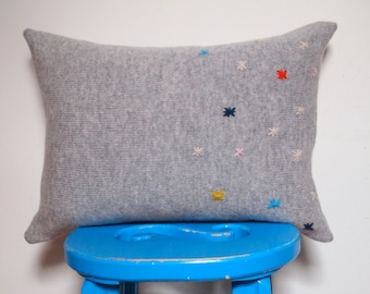 Grey Stars Cushion