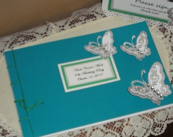 Butterfly Guest Book Album (MTO)