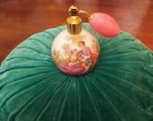 genuine Bavarian  porcelain perfume bottle atomizer reserved for levomu