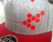 20% off Elusive Society /// Collab Snapback // Grey & Red