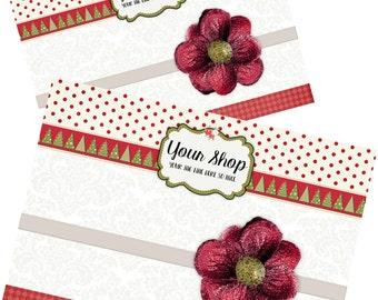 Custom Printable Display Cards - choose your size and orientation - download will arrive within the day. Headband jewelry Holiday Christmas