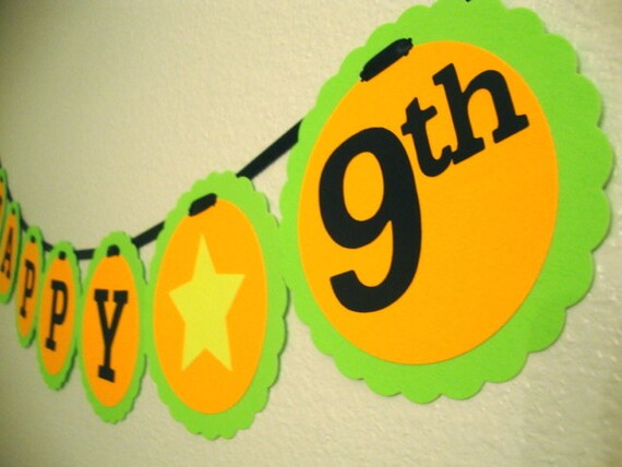 black light party happy birthday banner from bethscardcreations on etsy studio