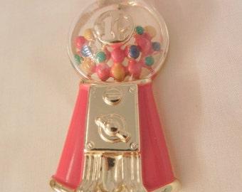 Rare one cent bubblegum machine Brooch AJC
