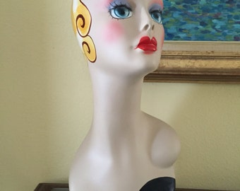 Mannequin display head for boutique