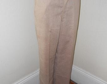 Men's Tan 60's Summer Slacks - Size 32/30