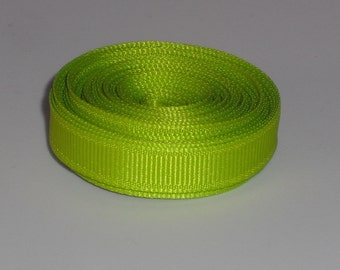 Lime Green 3/8 inch Solid Grosgrain Ribbon 10 yards