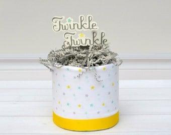 Twinkle Twinkle Diaper Cake - Twinkle Twinkle Baby Shower - Diaper Cake Centerpiece - Star Baby Shower - Baby Shower Gift - Star Diaper Cake