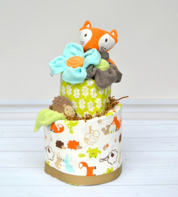 Woodland Baby Shower Decoration, Fox Baby Shower, Woodland Baby Shower, Hedgehog Shower, Woodland Diaper Cake, Unique Baby Gift, Fox Shower