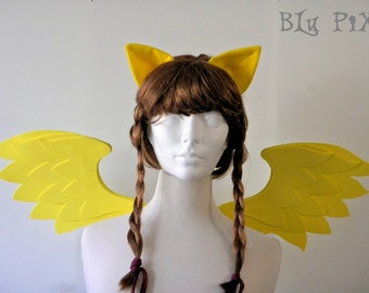 Fluttershy Set (Pony Wings, Ears) My Little Pony Halloween Costume, Kids and Adult Brony Cons Cosplay Accessories