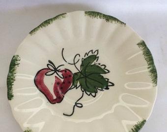 Blue Ridge Southern Pottery Strawberry Sundae Saucer