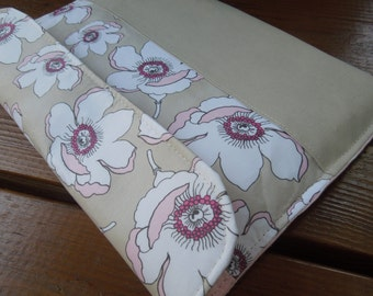 iPad cover with magnetic snap - iPad case - iPad sleeve -  Magnolias - Tablet protection pouch - Girly iPad case - Magnolia flowers