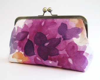 Hydrangea bridal Clutch,Bridal Accessories,Bridal Clutch,Bridesmaid Clutch,Floral Clutch,Wedding Clutch