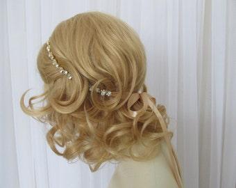 Gold Rhinestone Bridal Headband,Bridal Accessories,Wedding Accessories,Crystal Wedding Hairband,Bridal Headpiece,#H9
