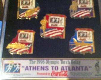 1996 Olympic Torch Relay Pins - Athens to Atlanta