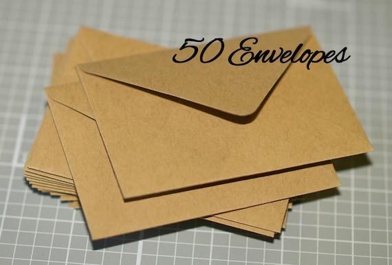 Mini Kraft Envelopes 50 Business Card Envelopes Thank