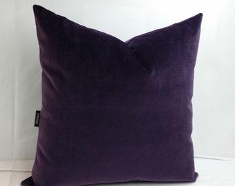 RTS deep purple velvet pillow, 20 inches square, J B Martin Como cushion