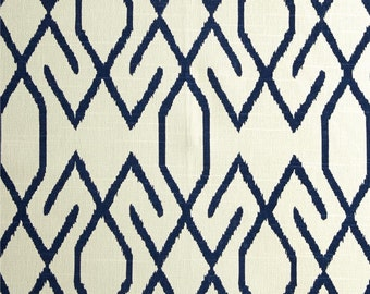 """Two 50"""" wide rod pocket designer curtain panels, drapes Lacefield Zoe navy blue or cocoa brown, pool - teal, lime"""