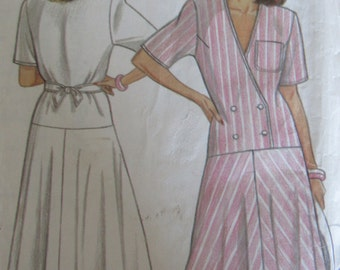 New Look 6365 Uncut Sewing Pattern Misses 8-18 Misses Womens Dress